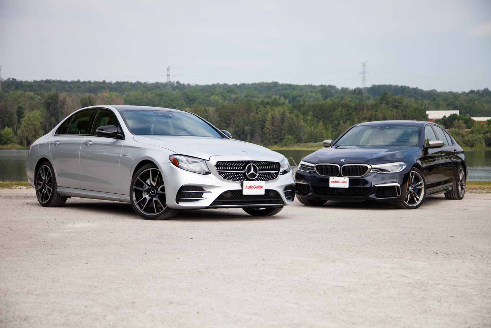 2017 mercedes benz e43 amg vs bmw m550i comparison for Bmw and mercedes benz