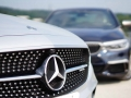 Mercedes-Benz E43 vs BMW M550i-90