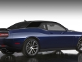 The Mopar '17 Dodge Challenger in Pitch Black/Contusion Blue conveys a tone-on-tone look, providing a subtle, hiding-in-plain-sight feel at night and a brilliant appearance in daylight. The inherent bodylines of the Dodge Challenger are used to transition from Pitch Black to Contusion Blue.