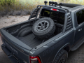 The Mopar-modified Ram 1500 Rebel Concept includes a Mopar 2-inch lift kit, off-road running boards, a Ram Bar, five 5-inch LED lights, a conceptual rear spare tire carrier and Satin Black Rebel graphics from Mopar
