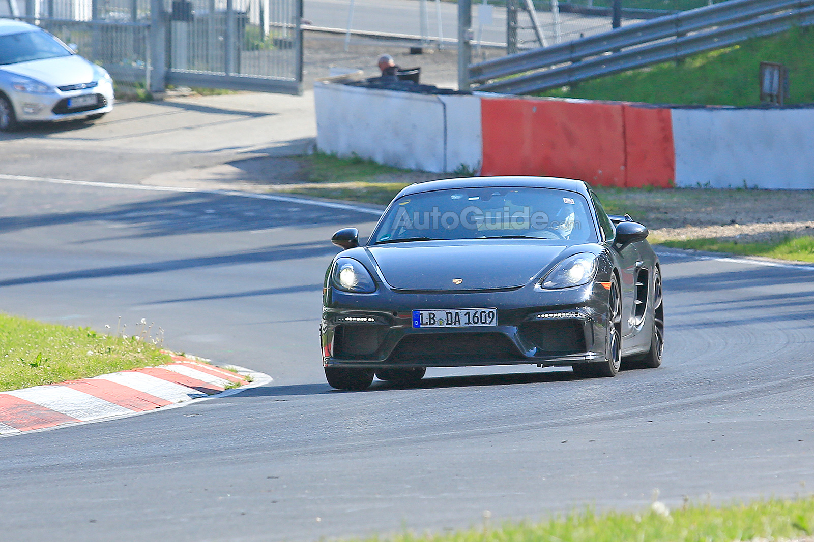 2019 Porsche 718 Cayman Gt4 Spied Testing On The Nurburgring Autoguide Com News