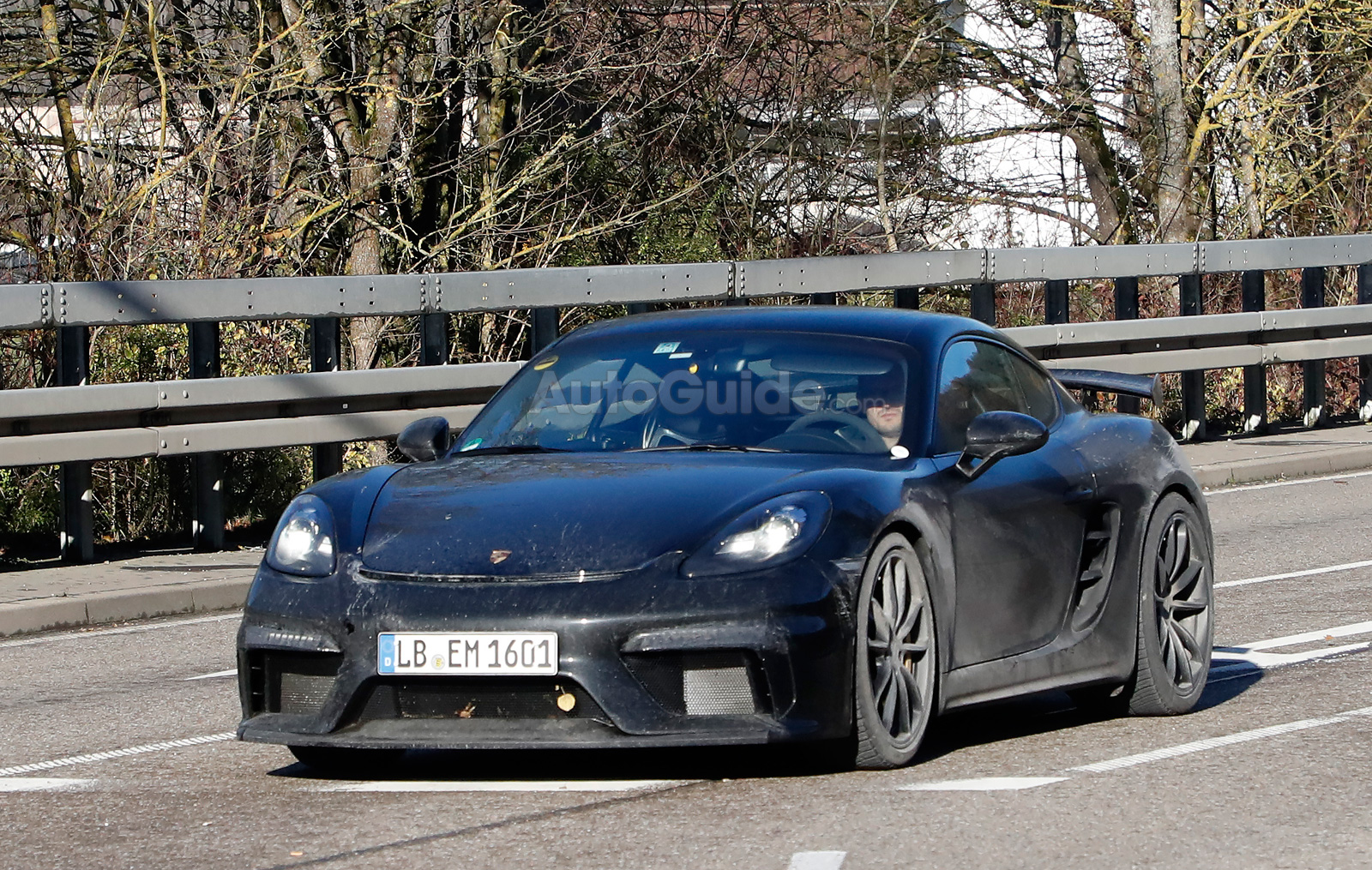 Spy Photographers Catch Porsche 718 Cayman Gt4 Testing Autoguide