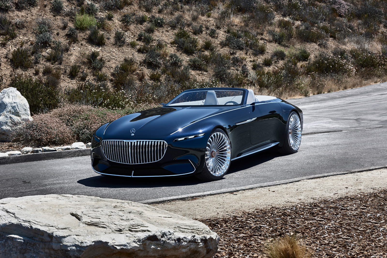 mercedes has revealed an electric convertible maybach 6. Black Bedroom Furniture Sets. Home Design Ideas