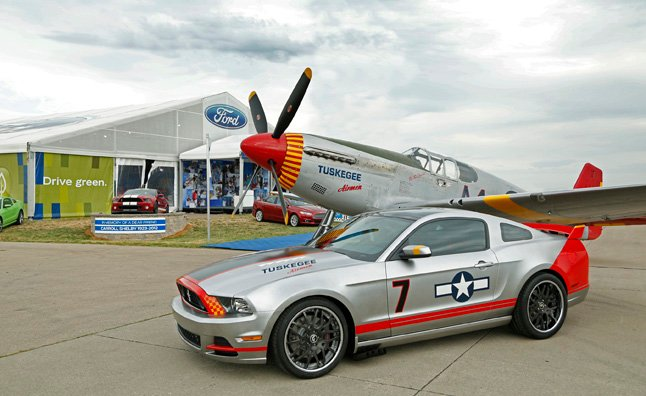 To Benefit The Eaa Young Eagles Organization Ford Has Designed And Built A One Of A Kind Red Tails Edition Mustang Gt Drawing Inspiration From The