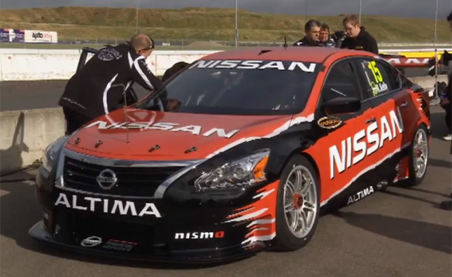 nissan altima v8 race car makes video debut autoguide com newsjust a mere few days after its official unveiling, nissan has already taken its altima v8 supercar out onto the race track for some shakedown runs