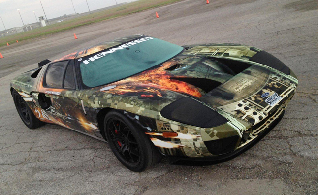 hennessey ford gt standing mile world record