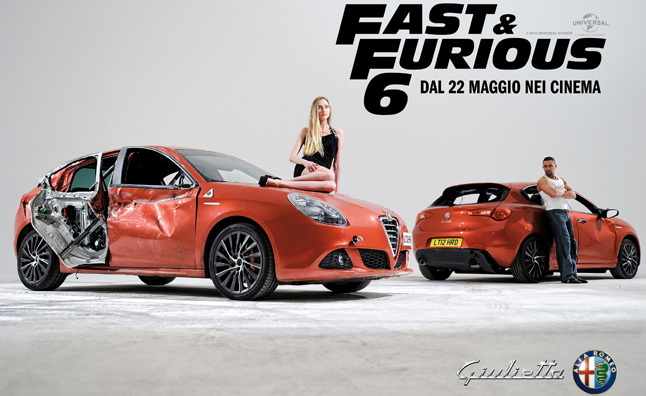 Alfa Romeo Giulietta Uses Fast  Furious 6 in Ads  AutoGuidecom News