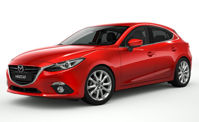 2014 mazda3 hatchback red