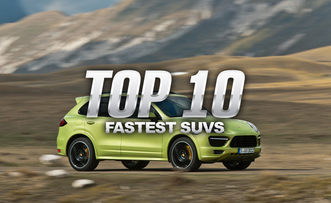 Top 10 fastest suvs autoguide news an suv doesnt have to be a boring vehicle reserved exclusively for trips to and from soccer practice and thanks to automakers like porsche sciox Choice Image