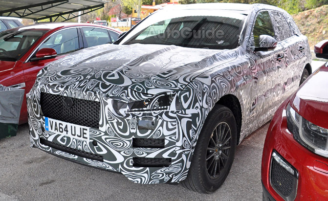 Jaguar F-Pace Interior Spy Photos