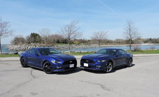 autoguide 2015 mustang v6 vs ecoboost ford inside news community - 2015 Ford Mustang V6 Blue
