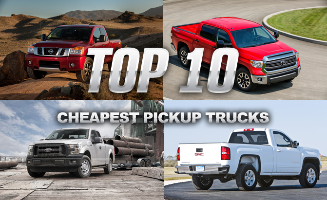 cheapest pickup trucks