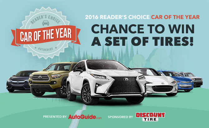 2016 autoguide.com reader's choice car of the year awards