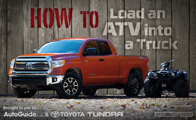 how to load an atv into a truck