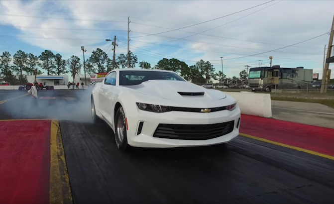 Watch A 2016 Copo Camaro Testing At The Drag Strip Autoguide News