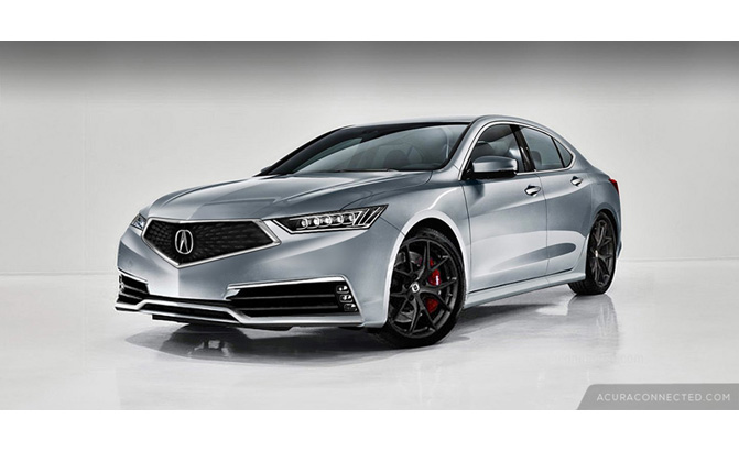 Renders Preview That The Acura TLX Will Look Pretty Snazzy - 2018 acura tsx grille