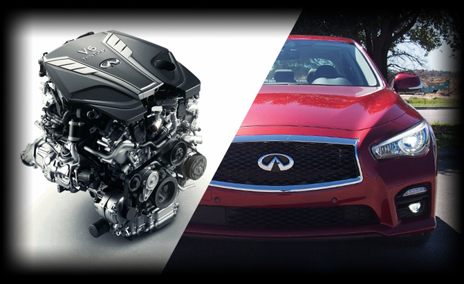 The 2016 Infiniti Q50 Sports Sedan Offers A Broad Range Of Trains But This Car S Most Alluring Under Hood Option Is Brand New 3 0 Liter Twin Turbo