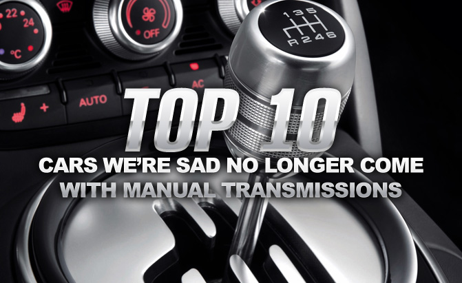 Top 10 Cars We Re Sad No Longer Come With Manual Transmissions