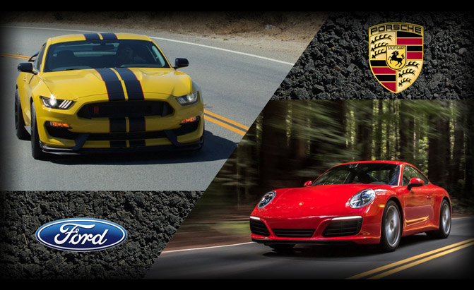 Porsche 911 Carrera or Ford Mustang Shelby GT350
