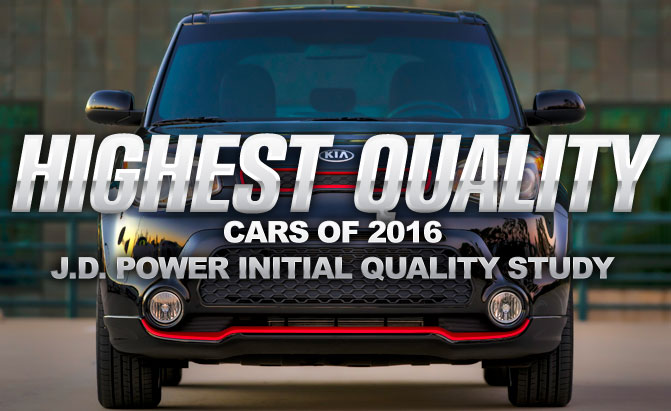 Highest Quality Cars Of 2016 J D Initial Study