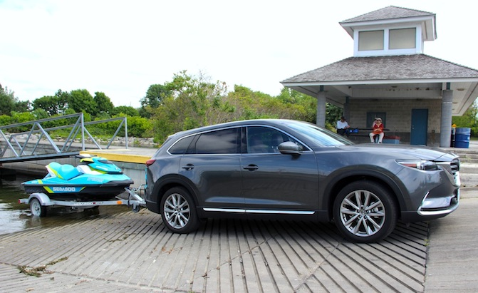 Mazda CX 9 Sea Doo Towing 2016 mazda cx 9 long term test update towing trailers autoguide com