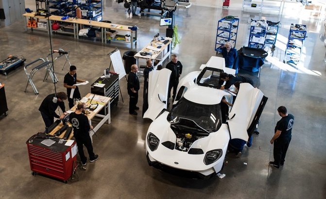 An Inside Look At The Ford Gt Factory As The First Model Rolls Off The Line Autoguide Com News
