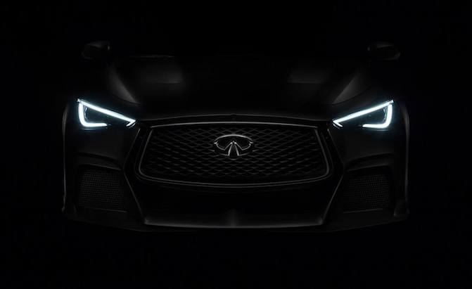 Infiniti Teases F1 Inspired Q60 Project Black S Concept Ahead Of