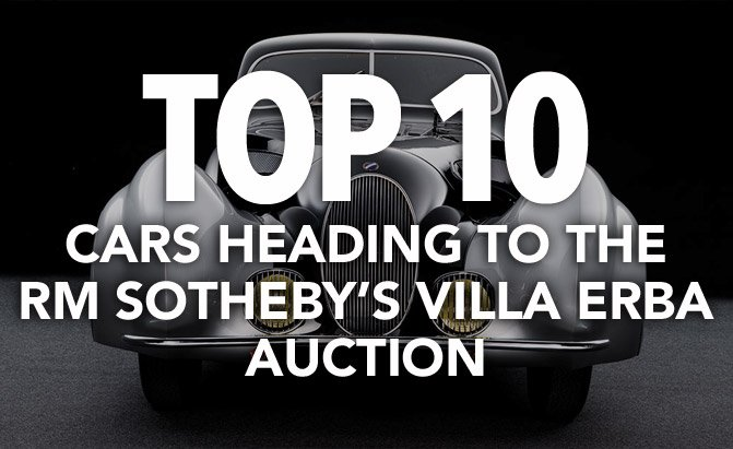 top 10 cars heading to the rm sotheby's villa erba auction