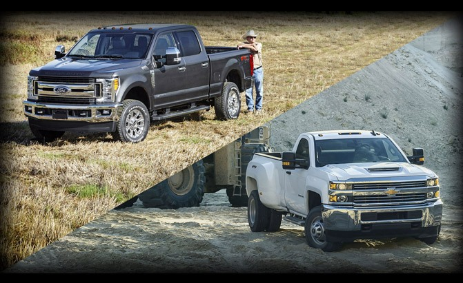 Ford F-350 Super Duty or Chevrolet Silverado 3500HD