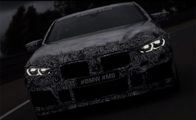 bmw m8 teaser video