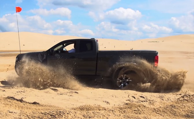 chevrolet colorado zr2 desert running