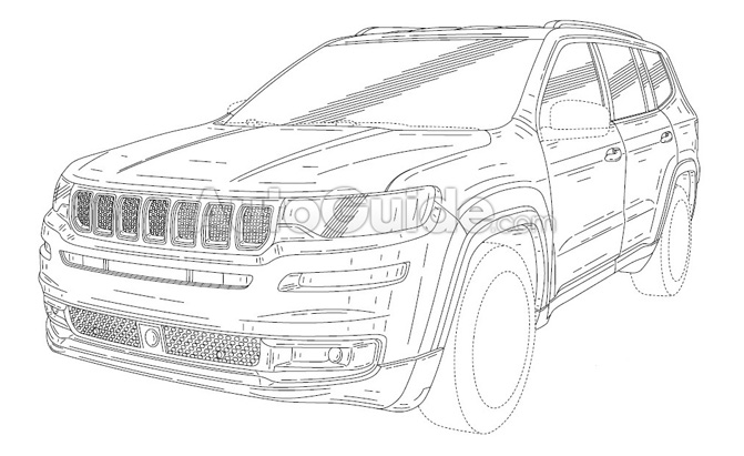 Jeep Grand Wagoneer Revealed in Patent Filing