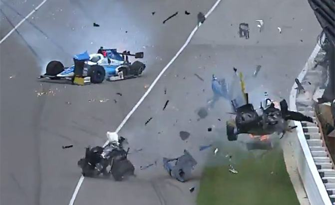 scott dixon indy 500 crash