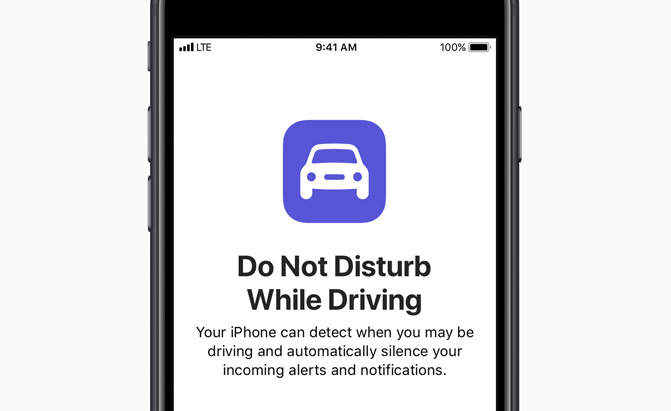 apple do not disturb while driving