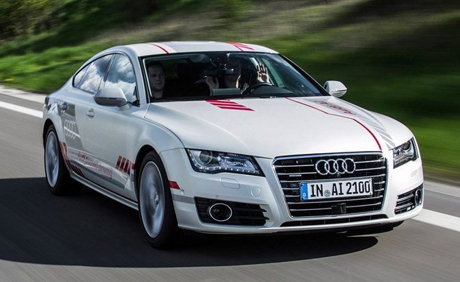 audi piloted driving test car