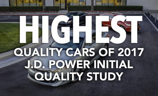 highest quality cars of 2017 j.d. power initial quality study