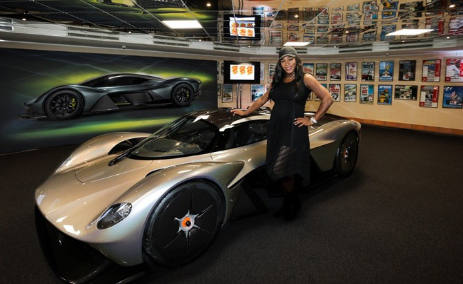 serena williams with aston martin valkyrie