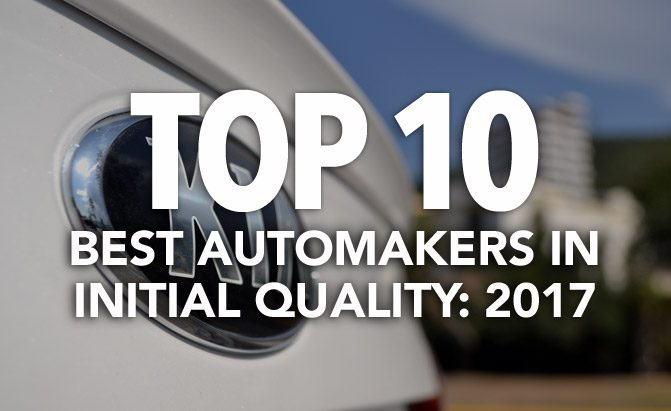 top 10 best automakers in initial quality 2017