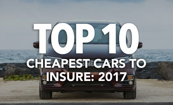 top 10 cheapest cars to insure 2017