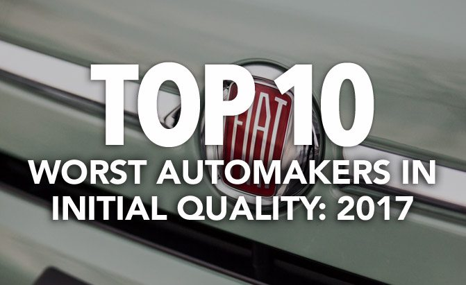 top 10 worst automakers in initial quality