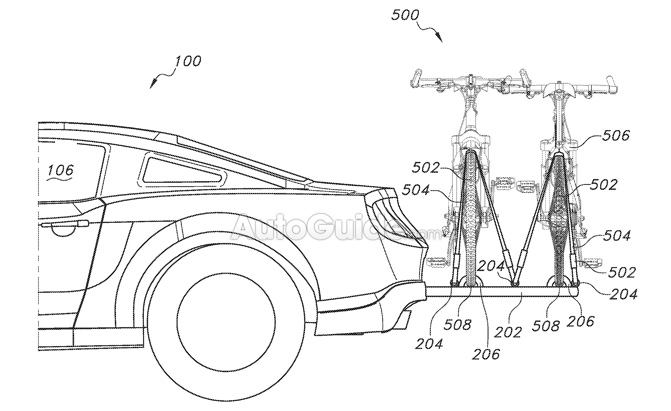 ford retractable bicycle carrier