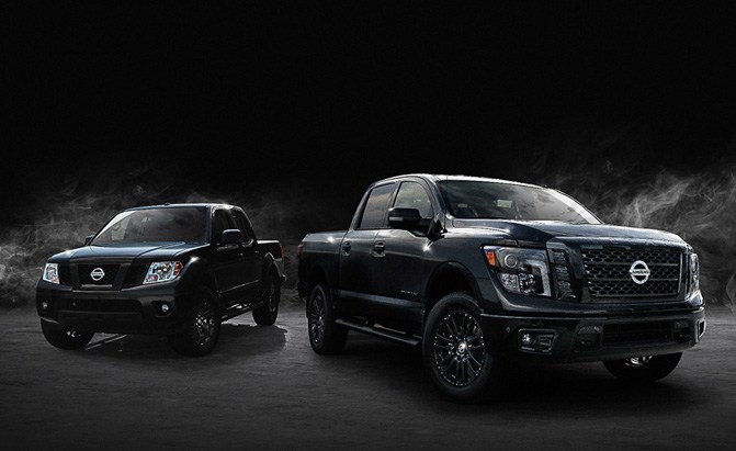 2018 nissan titan and frontier midnight editions