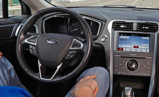 self-driving ford fusion test car