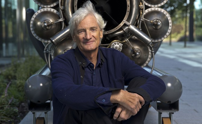 Sir James Dyson photographed at the Dyson HQ in Malmesbury, Wiltshire. Malmesbury 8 September 2016 Licensed to Dyson Ltd for Internal and Press use including sharing with external publications for their print and online editions .