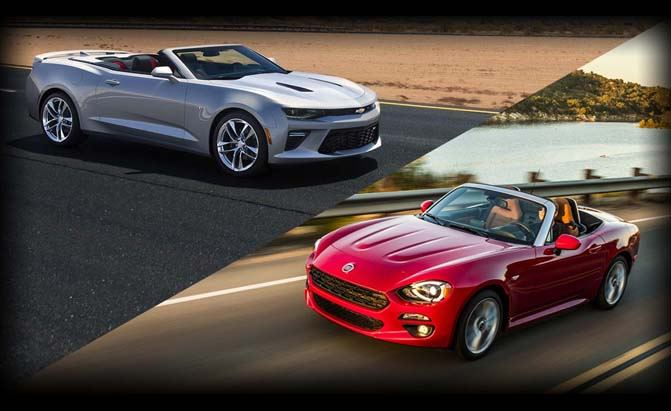 Fiat 124 Spider or Chevrolet Camaro Convertible