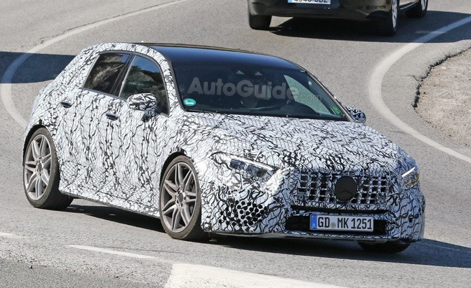 mercedes-amg a45 spy photo