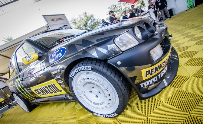 ken block ford escort cosworth group a rally car