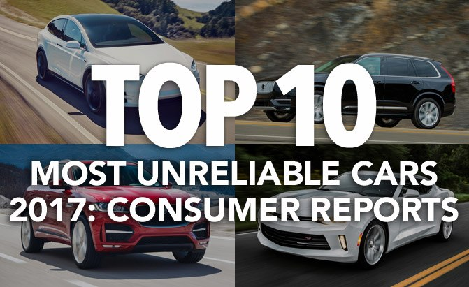 top 10 most unreliable cars 2017 consumer reports