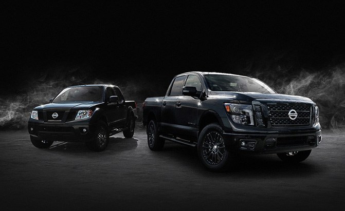 2018 nissan titan and frontier midnight edition