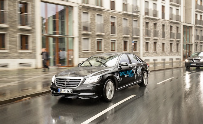 mercedes is testing a self driving s class in five different